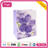 Litte Purple Flowers Butterfly Cosmetics Gem Clothing Coated Paper Bag