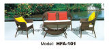 Iron Frame PE Rattan Outdoor Sofa Set Leisure Furniture