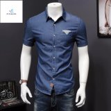 Fashion Leisure Short Sleeves Men Thin Type of Denim Shirts by Fly Jeans