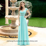 Wholesale Women's Beautiful Cheap Sexy V-Neck Long Prom Bridesmaid Dresses