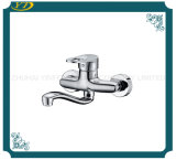Zinc Handle Chrome Finished Wall Mounted Bathroom Faucet