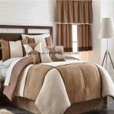 Coutry Style Microsuede Adults Home Use Patchwork Bedding Set