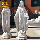 Custom Christian Figure Life Size White Marble Stone Our Mother Virgin Mary Statue
