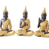 2020 Hotsell Big Tabletop Inner Heart Peaceful Meditating Buddhist Sitting Resin and Natural Stone Thai Buddha Statue