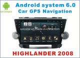 New Ui Android 6.0 Car Accessories for Highlander 2008 with Car DVD Player
