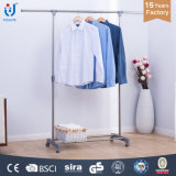 Extendable Single Rod Clothes and Shoes Hanger Stand