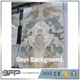Green and White Onyx for Wall Background and Floor Tile