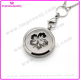 Flower Pattern Essential Oil Jewelry Stainless Steel Perfume Lockets Pendant