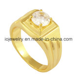Rose Gold Plated Simple Design Ring for Men