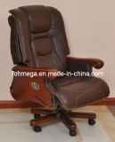 Wood Frame Leather Executive Office Recliner Chair (FOH-B106)