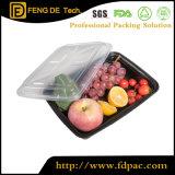 16oz Black Plastic Meal Prep Lunch Box Dishwasher, Freezer, Microwave Food Safe
