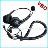 Professional Binaural Call Center Headset with Rj 11 Connector