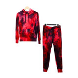 Poly Span Velour with Tie Dyed Ladies Suit Garment