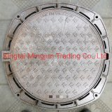 Ductile Iron Die Castings Round Sewer Power Gas Telecom Manhole Cover with Frame
