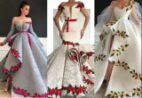Lace Party Gown 3D Embroidery Wedding Dress Colorful Bridal Evening Dress Lb20610