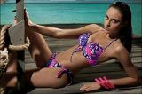 Popular Women Sexy Bandage Lace Padded Bra Beach Halter Bikini Set