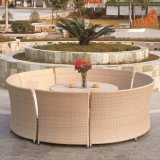 Outdoor Dining Set Round Rattan Table and Chairs (TG-JW08)