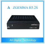 2017 Mew Twin Satellite Tuners Receiver Zgemma H5.2s with E2 OS H. 265 Hevc H. 265 Multistream Supported