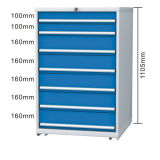 Warehouse Station Equipment Series Metal Tool Cabinet