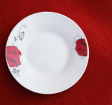 Red Flower Round Shape Tableware / Ceramic Plate