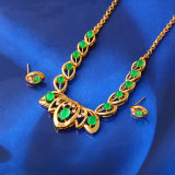 Free Sample 24k Gold Color Malay Jade Jewelry Set (61408)