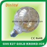G95 Kroko-Ice Satin Gold Incandescent Bulb