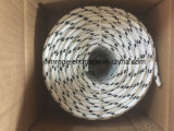 Polyester Briaded Rope 4mm-40mm 8 16 24 Strands White with Black