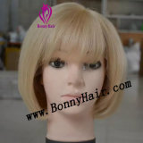 European Virgin Human Remy Hair Cuticle Intact Front Lace Wig Silk Straight Competitive Price