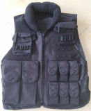 Black Military Tactical Vest with Pouches