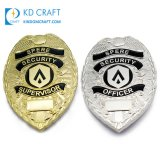 High Quality Metal Zinc Alloy 3D Enamel Gold Silver Cheap Custom Logo Military Police Sheriff Star Special Force Officer Enforcement Security Guard Pin Badge