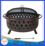 Outdoor Garden Slate Top Table Wood Burning Fire Pit