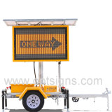 19m Voiture Solar Panel Traffic Variable Message Sign Trailer Mounted LED Color Vms Display Board