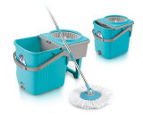 360 Spin Mop with Foldable Bucket and Microfiber Mop