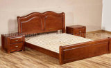Solid Wooden Bed Modern Double Beds (M-X2276)