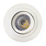 Lathe Aluminum GU10 MR16 Round Tilt Recessed LED Ceiling Light (LT2300)