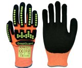 TPR Cut Impact Vibration Proof Safety Work Glove for Mining Oil Gas Field