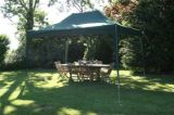 4.5mtr X 3mtr Green Pop up Gazebo, Fully Waterproof with Four Side Panels