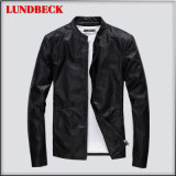 Best Sell Men′s PU Jacket with Black Coat