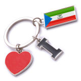New Custom Metal Souvenir Equatorial Guinea Keyring
