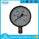 4inch-100mm Black Steel Case Brass Connection Bottom Thread Type Pressure Gauge