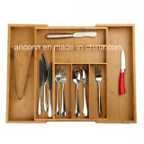 Bamboo Large Expandable Cutlery Tray with Muti-Function