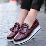 Fashion Women Leather Shoes Platform Shoes Dress Shoes (FTS1019-24)