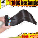 Wholesale Price in 10A Brazilian Straight Hair, 100% Human Hair
