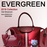 New Design Lady Tote Bag Woman Genuine Leather Handbag Leather Tote Bags Mommy Hand Bag (EMG5224)