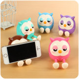 Cute Creative Owl Birthday Gift Piggy Bank Phone Holder Bracket Lazy Bedside
