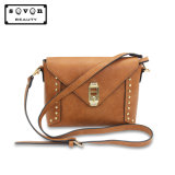 Fashion PU Leather Handbag with Rivet Suitable Size for Cross Body