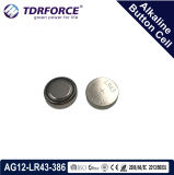 Mercury&Cadmium Free China Factory Bulk Alkaline Button Cell for Watch (1.5V AG12/LR43/386)
