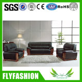 Classical Design Office Furniture Genuine Leather Sofa Set (OF-02A)