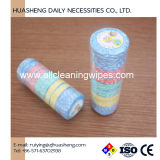 Green Safe Printed Compressed Towel Small Round in Shape 100% of Rayon or Viscose for Hotel Restaurant, Table, Cleaning Hand, Face