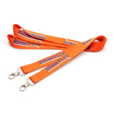 Promotion Cheap Polyester Printing Silk Screen Lanyard Custom with Metal Clip for Exhibition Gift